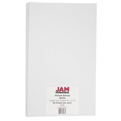 jam paper vellum bristol legal cardstock 8 5 x 14 67lb white 50