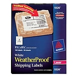 Avery® 5-1/2 X 8-1/2 White WeatherProof Shipping Labels, 100/Box (5526)