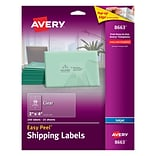 Avery® 8663 Clear Easy Peel Mailing Labels; Inkjet, 2 x 4, 250/Box