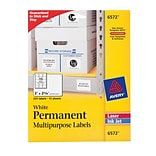 Avery® 6572 White Permanent Durable ID Label With TrueBlock® Technology, 2(W) x 2 5/8(L), 225/Pack