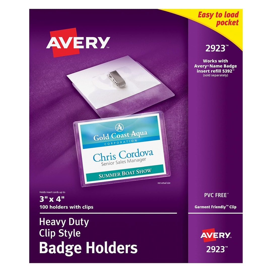 ID Badge Holders, Avery | Quill.com