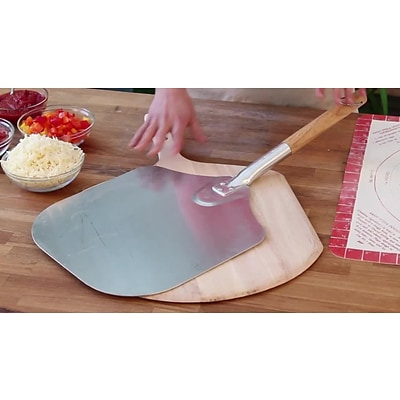 Honey Can Do 16 x 18 Aluminum Pizza Peel with Wood Handle (4439)