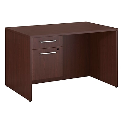 Bush Business Furniture Emerge 48W x 30D Desk with 3/4 Pedestal, Harvest Cherry (300S092CS)