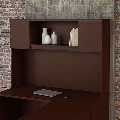 Bush Business Furniture Emerge 60W Hutch - Installed, Harvest Cherry (22HT60CSKFA)
