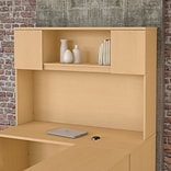 Bush Business Furniture Emerge 60W Hutch - Installed; Natural Maple (22HT60ACKFA)