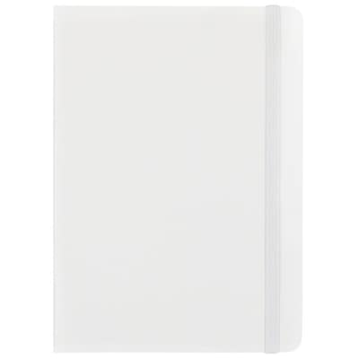 Jam Paper(r) Hardcover Lined Notebook With Elastic Closure, Medium, 5 X 7 Journal, White, Sold Individually (340526605)