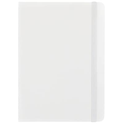 JAM Paper® Hardcover Lined Notebook with Elastic Closure, Medium, 5 x 7 Journal, White, Sold Individually (340526605)
