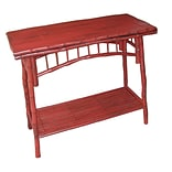 Kenian Coastal Chic Console Table; Antique Red