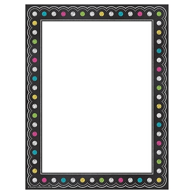 Teacher Created Resources Chalkboard Brights Computer Paper, 50 Sheets Per Package (TCR5837)