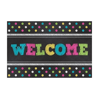 Teacher Created Resources Chalkboard Brights Welcome Postcards, 4x6 30 Per Pack (TCR5838)