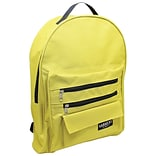 Sargent Art Economy Backpack, Mustard w/ Black Zippers, Nylon (SAR985017)