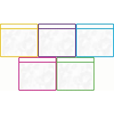 Teacher Created Resources Dry Erase Pockets, Assorted Colors, Pack of 5 (TCR20751)