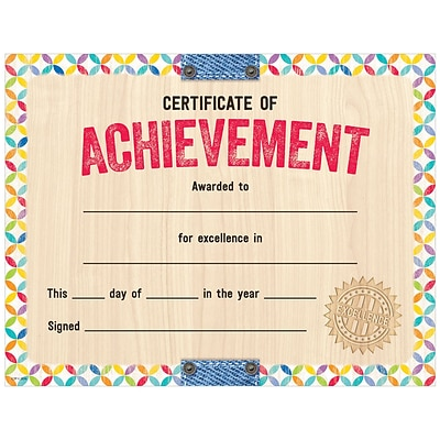 Creative Teaching Press Upcycle Style Certificate of Achievement Large Awards 8-1/2 x 11, Pack of 50 (TCR2536)