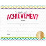 Creative Teaching Press Chevron Certificate of Achievement Large Awards 8-1/2x11, Pack of 50 (TCR2