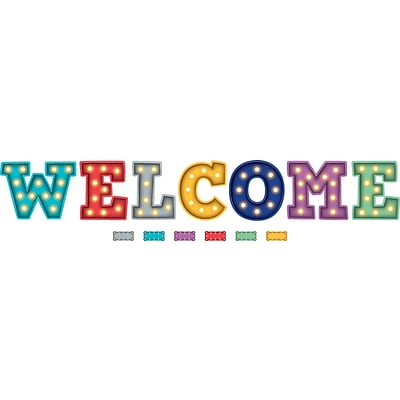 Teacher Created Resources Marquee Welcome Bulletin Board Display (TCR5869)