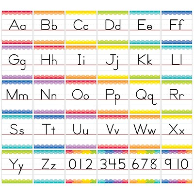 Creative Teaching Press Traditional Manuscript Alphabet Bulletin Board Set Painted Palette (CTP7055)