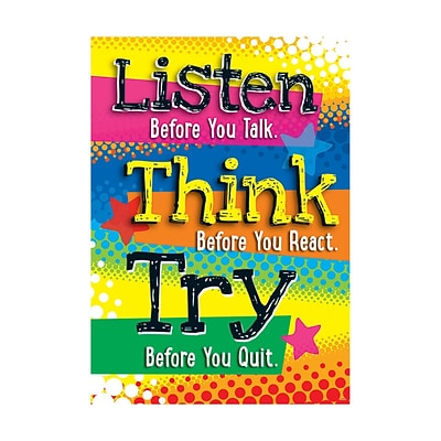 Argus® 19 x 13 Listen Before you Talk Poster (T-A67058)