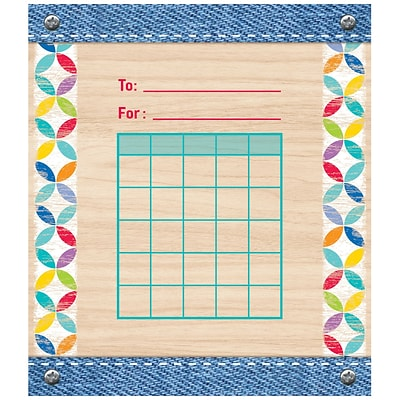 Creative Teaching Press Upcycle Style Incentive Charts Multi-Color 36 Sheets Per Pack (CTP1405)