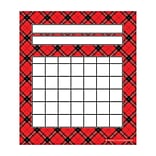 Teacher Created Resources Red Plaid Incentive Charts  Red and Black 36 Charts Per Pack (TCR5696)