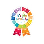 Creative Teaching Press Happy Birthday Badges Multi-Colored 36 Badges Per Pack  (CTP1066)