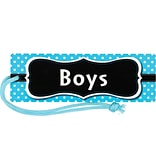 Teacher Created Resources Aqua Polka Dots Magnetic Boys Pass (TCR77239)