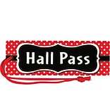 Teacher Created Resources Red Polka Dots Magnetic Hall Pass (TCR77238)