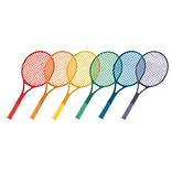 Champion Sports Plastic Tennis Rackets Set of 6 Rackets (CHSJTRSET)
