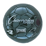 Champion Sports Extreme Size 4 Black Soccer Ball (CHSEX4BK)