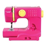 Janome Janome Portable Easy-to-Use 5-Pound Mechanical Sewing Machine; Fast Lane Fuchsia
