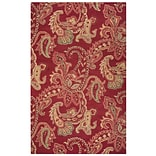 Rizzy Home Ashlyn Collection New Zealand Wool Blend 9x12 Burgundy (ASHAL265100700912)