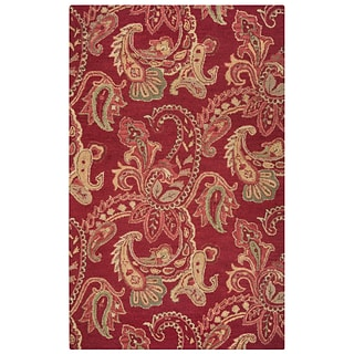 Rizzy Home Ashlyn Collection New Zealand Wool Blend 2 x 3 Burgundy (ASHAL265100700203)