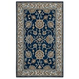 Rizzy Home Ashlyn Collection New Zealand Wool Blend 3 x 5 Blue (ASHAL282357370305)
