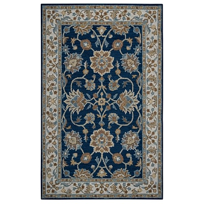 Rizzy Home Ashlyn Collection New Zealand Wool Blend 9x12 Blue (ASHAL282357370912)