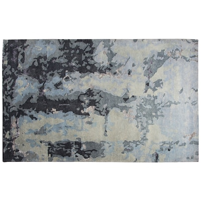 Rizzy Home Avant-Garde Collection New Zealand Wool Blend with Viscose Accents 56 x 86 Gray (AVGAG879400335686)
