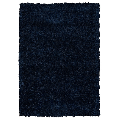 Rizzy Home Kempton Collection 100% Polyester 8x10 Dark Blue (KNMKM244300090810)