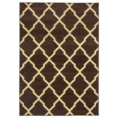 Rizzy Home Millington  Collection 100% Polypropylene 67x96 Brown (MGTMG4777BR006796)