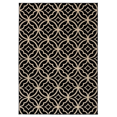 Rizzy Home Millington  Collection 100% Polypropylene 67x96 Black (MGTMG486300066796)