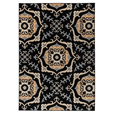 Rizzy Home Millington  Collection 100% Polypropylene 67x96 Black (MGTMG488600066796)
