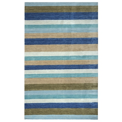 Rizzy Home Platoon Collection New Zealand Wool Blend 8x10 Multi-Colored (PLAPL312900090810)