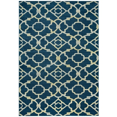 Rizzy Home Sorrento Collection 100% Heat-Set Polypropylene 710x1010 Navy (SRTSO428400097110)