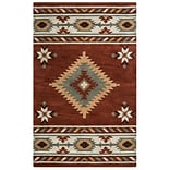 Rizzy Home Southwest Collection 100% Wool 8x10 Rust (SOWSU182200560810)
