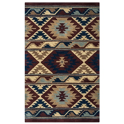 Rizzy Home Southwest Collection 100% Wool 3 x 5 Multi-Colored (SOWSU225300700305)