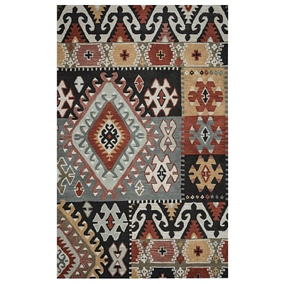 Rizzy Home Southwest Collection 100% Wool 9x12 Multi-Colored (SOWSU810400330912)