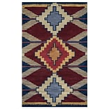 Rizzy Home Southwest Collection 100% Wool 8x10 Multi-Colored (SOWSU901000700810)