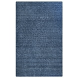 Rizzy Home Uptown Collection New Zealand Wool Blend 56 x 86 Blue (UPTUP2439ID005686)