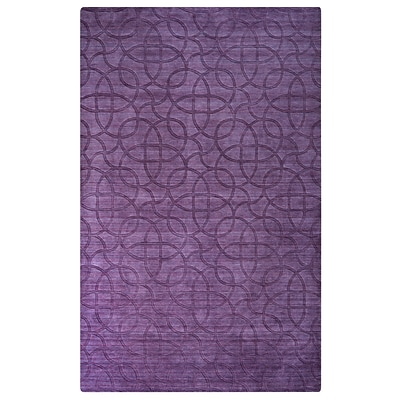 Rizzy Home Uptown Collection New Zealand Wool Blend 2 x 3 Purple (UPTUP245400660203)