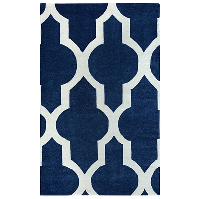 Rizzy Home Volare Collection 100% Wool 3 x 5 Navy (VOLVO213200570305)