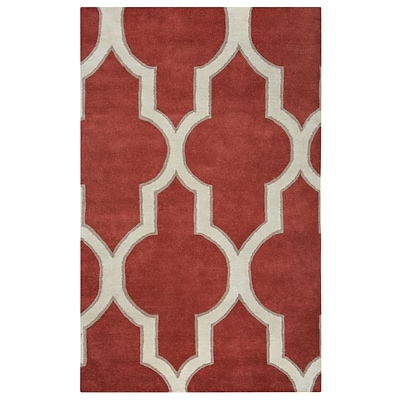 Rizzy Home Volare Collection 100% Wool 8x10 Red (VOLVO213400750810)