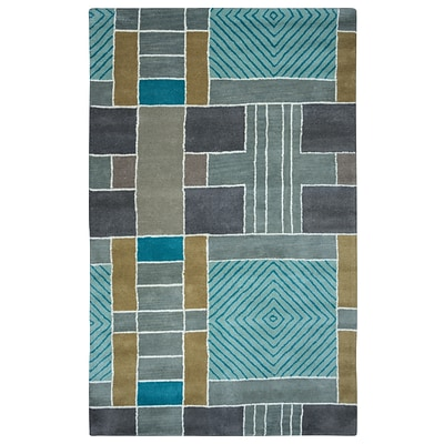 Rizzy Home Volare Collection 100% Wool 5x8 Multi-Colored (VOLVO265400430508)
