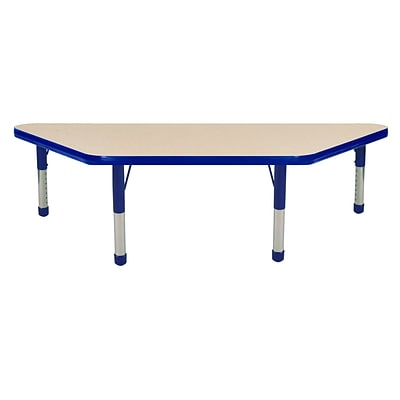 ECR4Kids 24 x 48 Trap Table Maple/Blue -Chunky Legs  (ELR-14126-MBL-C)